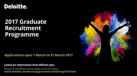 Deloitte Mba Competition 2017 by Deloitte Graduate Recruitment Programme 2017 For