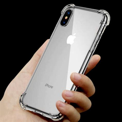 Pzoz Soft Silicone Clear Iphone X 5 8 soft transparent tpu for iphone x 7 plus 6 6s plus 5s 5 se silicone airbag shockproof clear