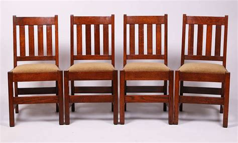 mission oak dining chairs set of 4 mission oak dining chairs c1910 california