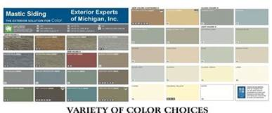vinyl siding color chart vinyl siding exterior experts of michigan