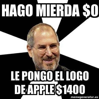 Meme Jobs - meme steve jobs hago mierda 0 le pongo el logo de apple