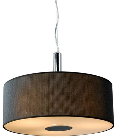 Drum L Shade With Diffuser by Black Deluxe Linen Drum Shade Glass Diffuser Home Hanging