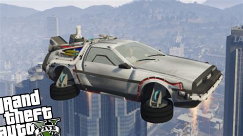 mod gta 5 delorean gta 5 pc mod delorean mod update new flying delorean