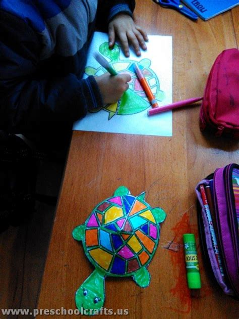 crafts with colored paper colored paper turtle crafts for preschool crafts