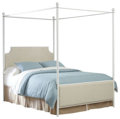 white canopy beds fastfurnishings size metal canopy bed with white beige headboard footboard canopy