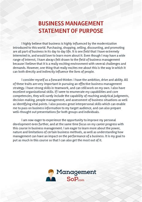 Unl Mba Memorandum Of Courses by Sle Statement Of Purpose For Business Management On Behance