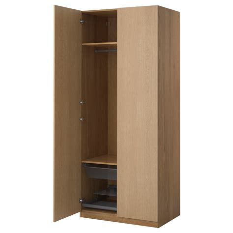 einbauschrank ikea pax wardrobe oak effect nexus oak veneer 100x60x236 cm ikea