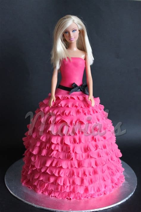 Decorating A Cake At Home by Barbie Cake Cakecentral Com