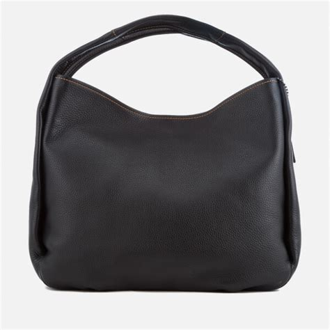 Coach 1941 Pebbled Leather Bag by Coach 1941 S Glovetanned Pebble Leather Bandit Hobo Bag Black