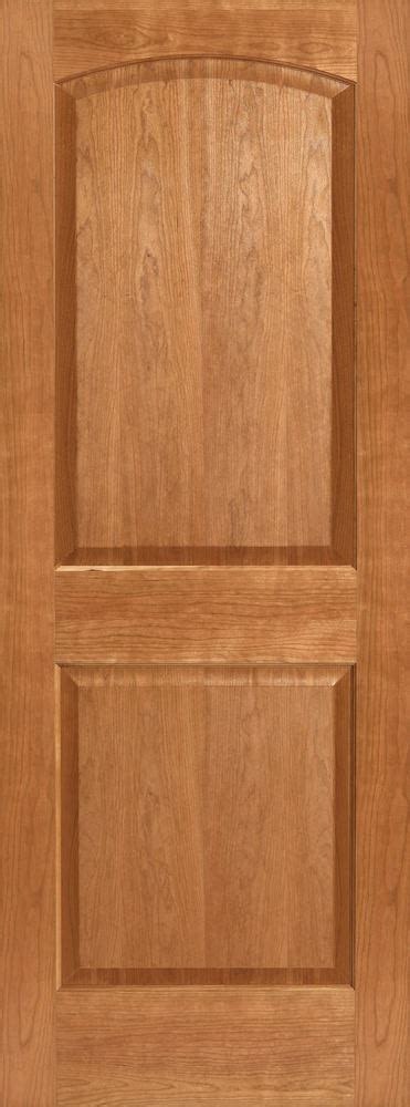 Stain Grade Interior Doors Cherry 2 Panel Arch Top Raised Panels Stain Grade Solid Interior Wood Doors Ebay