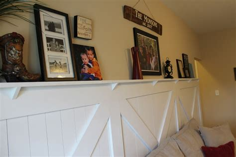 Wainscoting With Shelf by Barn Door Wainscoting Tutorial Remodelaholic