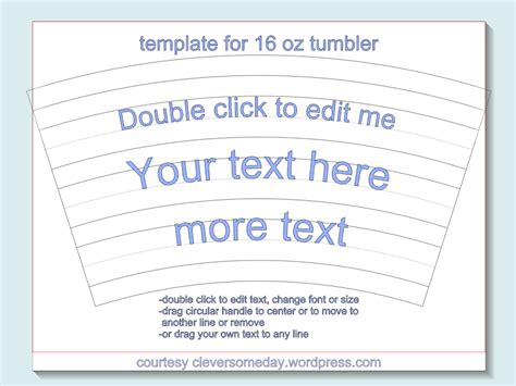 tumbler template tumbler template freebie clever someday