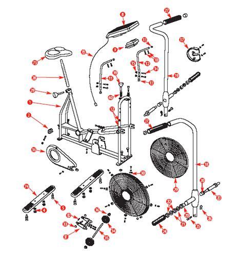 schwinn airdyne parts diagram schwinn airdyne parts pictures to pin on thepinsta
