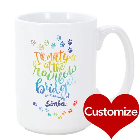 Custom Rainbow Car Mug custom rainbow bridge mug iheartdogs