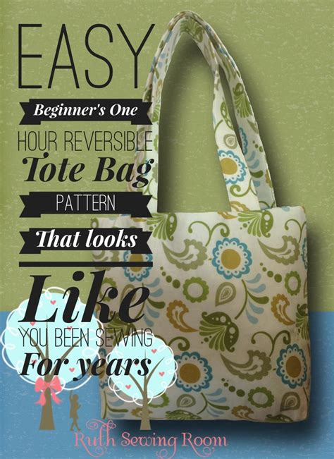 beginner sewing pattern tote bag easy reversible tote bag pattern designed with the
