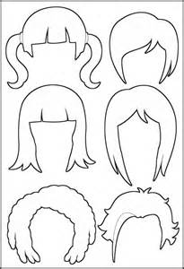 printable pictures of hairstyles superhero paper dolls hair outline
