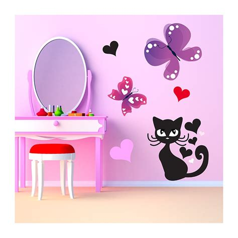 Stickers Bebe Chambre by Stickers Chambre B 233 B 233 Chat Et Papillons En Exclusivit 233