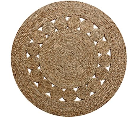 circle jute rug jute circle pattern plaited rug