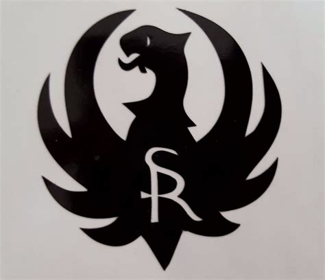 Black Stickers ruger logo black high gloss vinyl die cut gun firearms 2 quot decal sticker ebay
