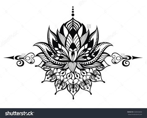 lotus tattoo zwart wit ying yang koi fish lotus flowers tattoos on side back