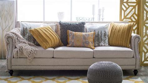 sofa pillow ideas 5 ways to decorate a neutral sofa with throw pillows