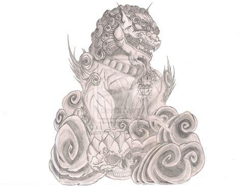 fu dog tattoo designs fu designs
