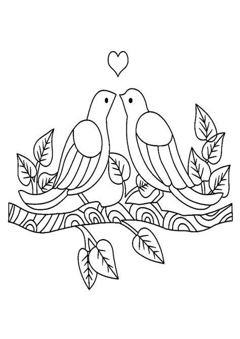 two love birds drawing www pixshark com images