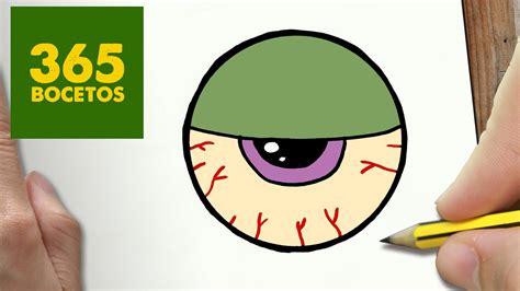 imagenes de ojos faciles para dibujar como dibujar ojo zombie kawaii paso a paso dibujos