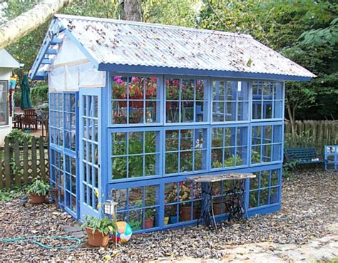 Greenhouse From Salvaged Windows Decor Greenhouses From Windows And Doors Nifty Homestead