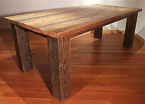 how to build a rustic dining room table reclaimed wood bunkhouse dining table kitchen island