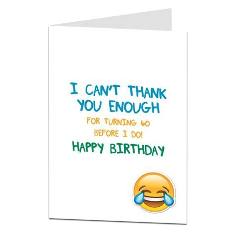 Funny 60th Birthday Card For Older Wife, Husband Or Best
