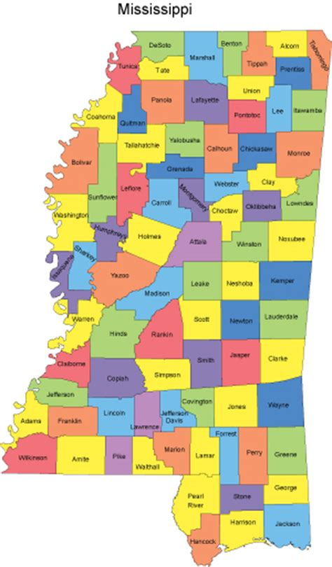 mississippi county map mississippi map with counties