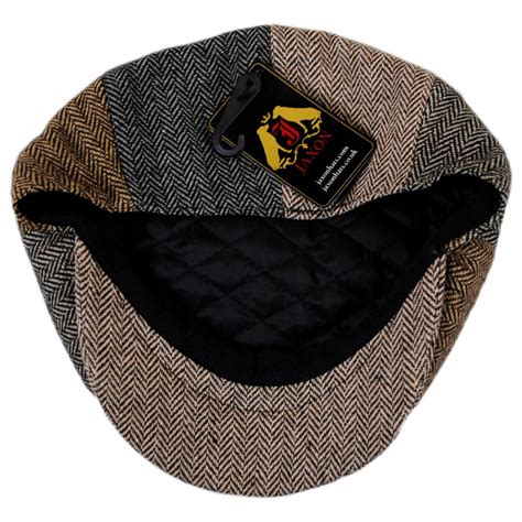 Patchwork Newsboy Cap - jaxon hats herringbone patchwork wool blend newsboy cap