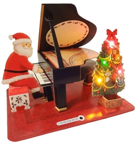 piano lights for baby grand baby grand piano w santa claus lights melody pop up
