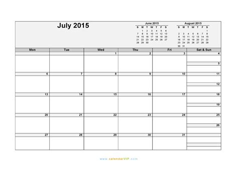 printable daily planner july 2015 july 2015 calendar blank printable calendar template in