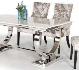 Marble Dining Table And 6 Chairs Serge Living Venice Marble Dining Table With 6 Chairs 3 Colours
