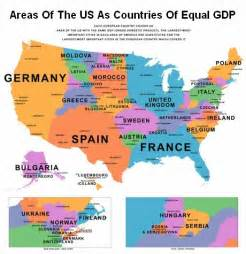 map of us states compared to other countries by