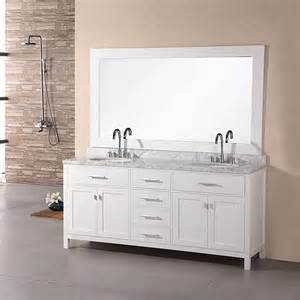 design element bathroom vanities shop design element pearl white 72 in undermount