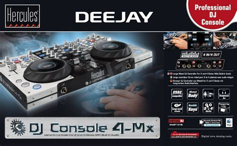 dj console 4 mx hercules dj console 4 mx mixing console alzashop