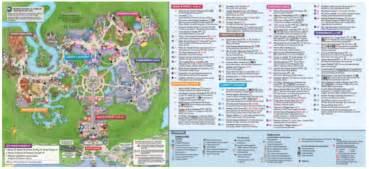 Walt Disney World Magic Kingdom Map by New Park Maps At Magic Kingdom In Walt Disney World