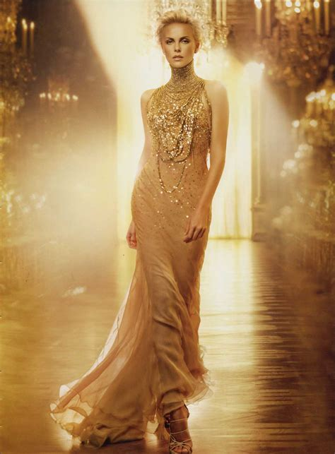 Gold Fashion by J Adore Charlize Theron 3 Glamorous Luxury
