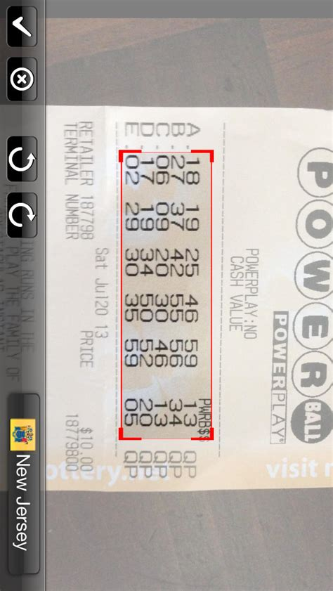 lottery ticket scan pool groups for powerball and mega