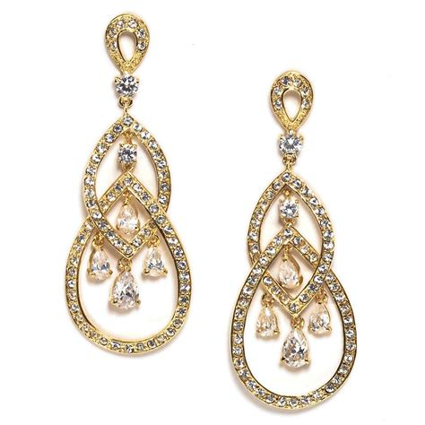 Earring Chandelier Millie Gold Chandelier Earring