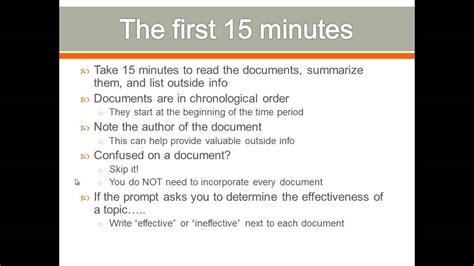 Dbq Essay Strategies by Apush Review Dbq Writing Tips
