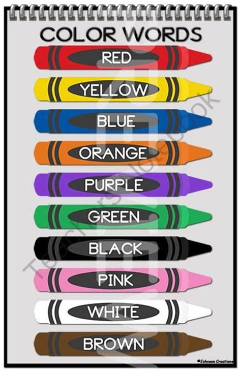 color words 35 best images about kindergarten colors on