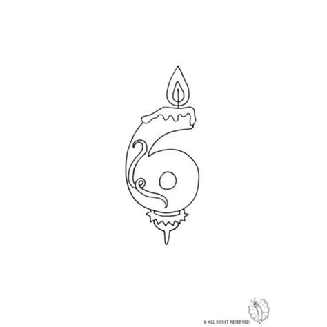 disegni di candele disegno di sei anni candeline compleanno da colorare per