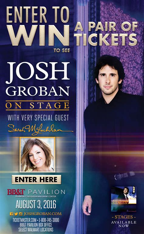 Live Nation App Sweepstakes - live nation josh groban sweepstakes 6abc com