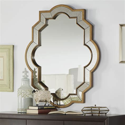 Uttermost Com Mirrors Paisley Oval Quatrefoil Frame Accent Wall Mirror