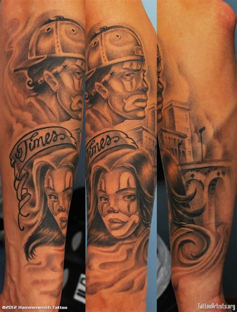 gangster tattoos gangsta clown designs www pixshark images
