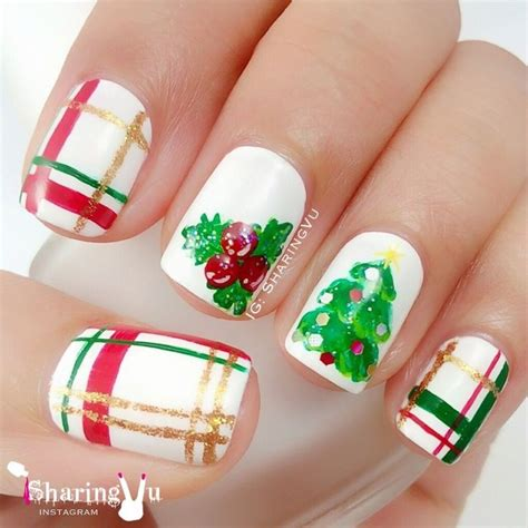 christmas pattern nail st merry christmas nail art by sharingvu nail art community